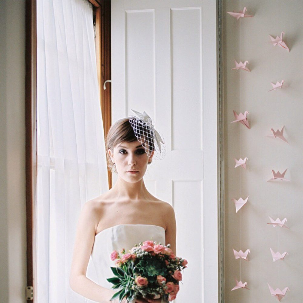 Paper crane paprty/wedding backdrop, by the origami boutique, London.