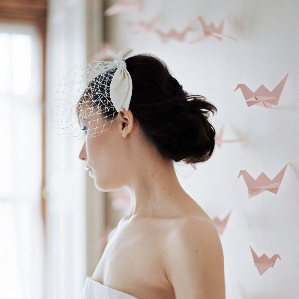 Paper crane wedding day backdrop, by the origami boutique, London.