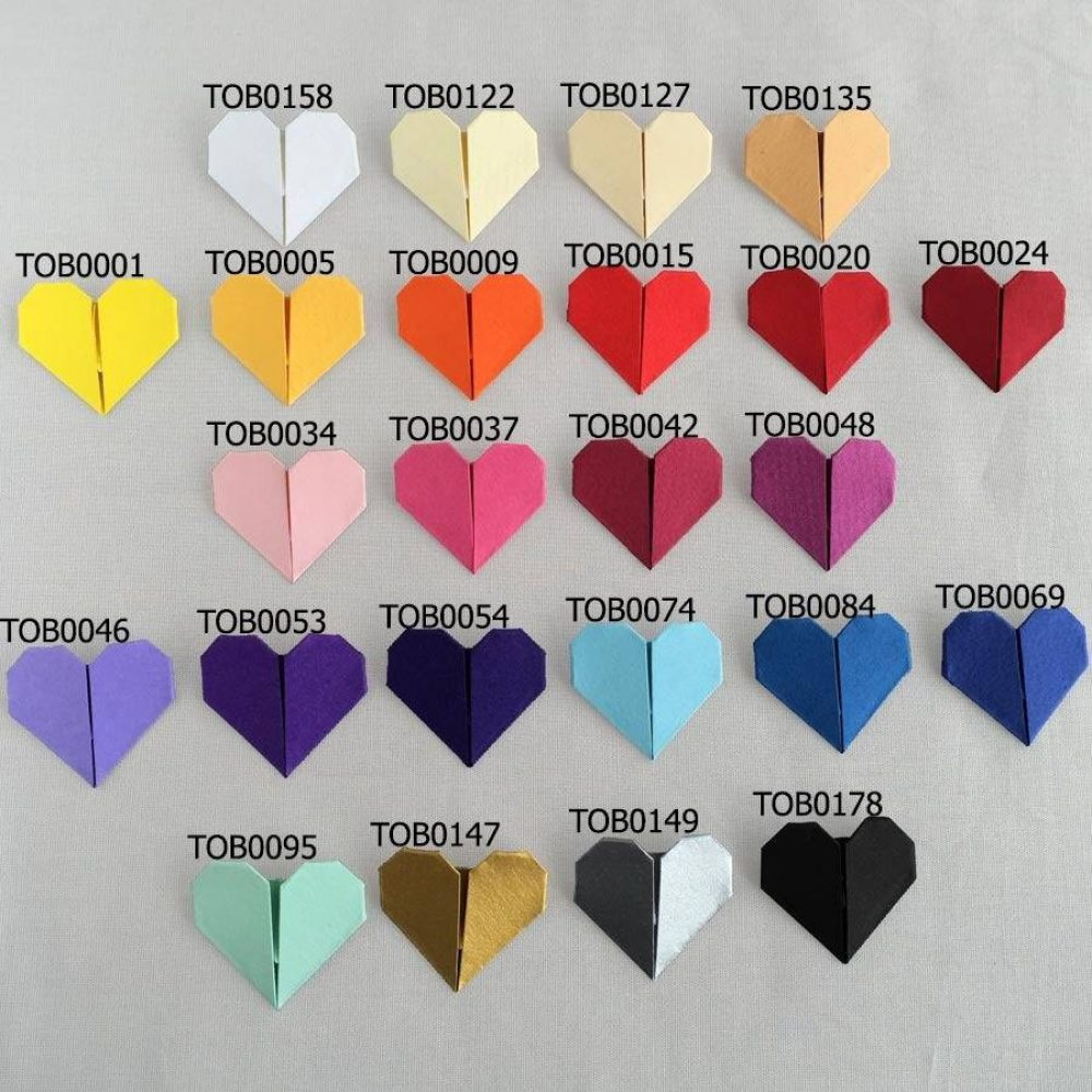 The origami boutique colour chart